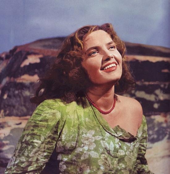 The image from magazine 'Soviet Screen', 1957. Soviet Latvian actress Dzidra Ritenberga 1928-2003