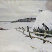 Tikhon Semyonov (1894-1954). Winter. Grey day