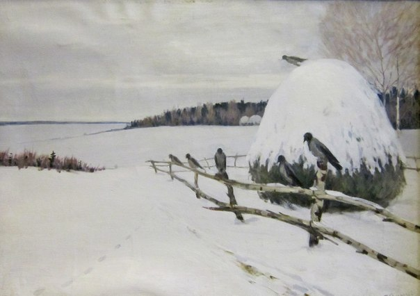Tikhon Semyonov (1894-1954). Winter. Grey day