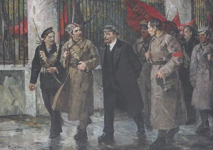 V. Kh. Ladyzhensky. All power to Soviets. 1972. Oil on canvas