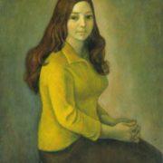 V. Nozina's portrait. Oil on canvas, 1978