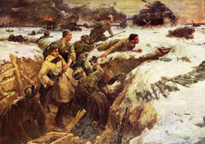 V. Panfilov. The feat of the Panfilov Guardsmen