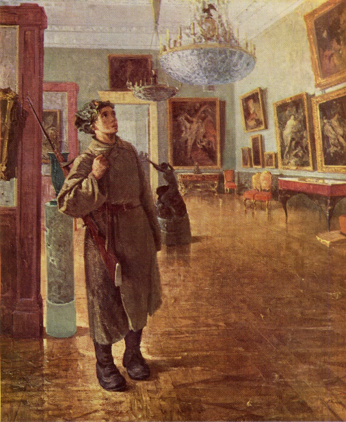 V. Polyakov. After storming the Winter Palace