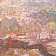 V. Semenikin. Town of miners. Artist Vladimir Semenikhin. Oil, canvas, 1974