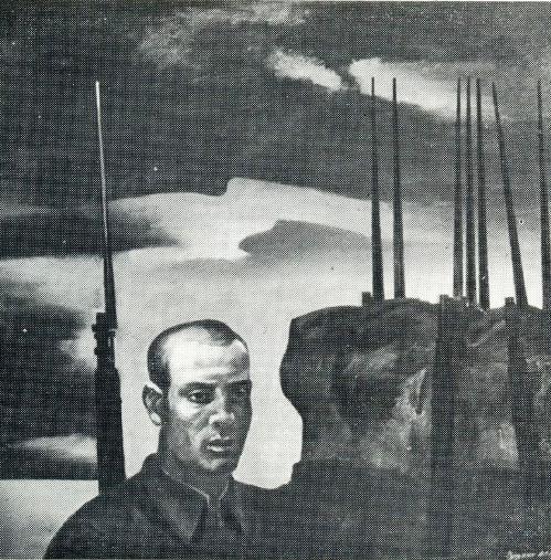 V. Zanuzin. Junior Sergeant F. Zemskov. Canvas, oil. 1984-1985
