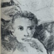 V.N. Chekrygin. Portrait of a boy. 1920