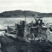 V.V. Krainev. Water releasing at Tulomsky hydro power. 1937