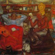 V.V. Zagonek (1946). In the tent of loggers. 1975