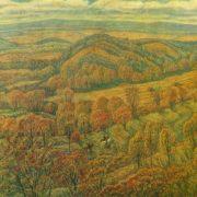 VA Pozdnov (Ufa). October in Bashkiria. 1979. Oil on canvas