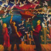 VV Vladykin. (Born 1943 Moscow). Family of artist Loshakov. 1974-1975. Canvas, oil