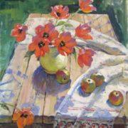 Vakhtang Akhvlediani (1924-1984) Tulips 1983