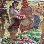 Viktor Patrin (1942). Watermelon from the fields. 1973