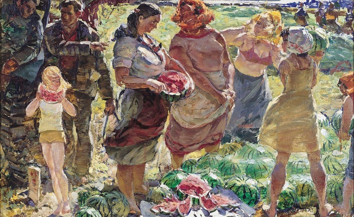 Viktor Patrin (1942). Watermelon from the fields. 1973