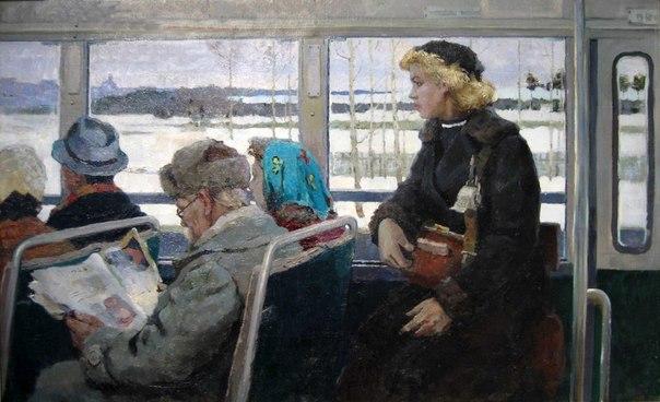 Vladimir Stroyev (1929 - 1992). Bus. 1955