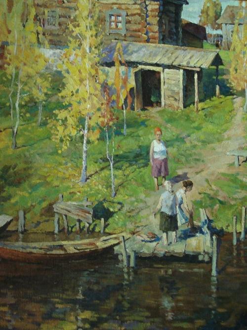 Vladimir Verizhnikov (1949 - 2002). Autumn on the River 1978
