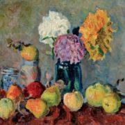 Vladimir Vladimirov (1886-1969). Apples and chrysanthemum. Canvas, oil. 1920