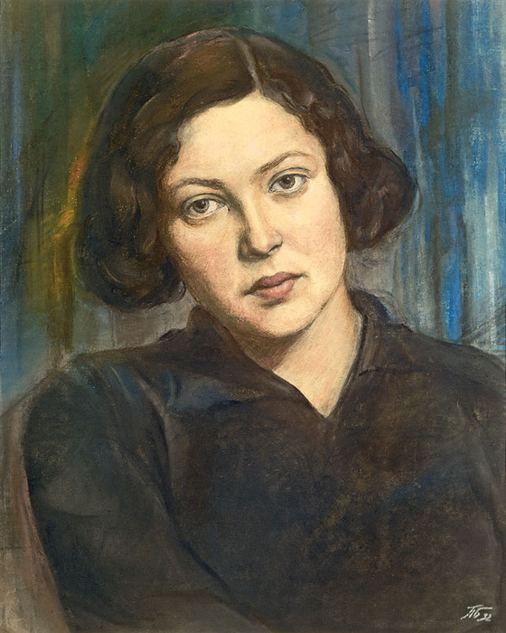 Young woman's portrait. 1932