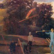 Yu Macheret (b. 1944) Springboard. 1975. Oil on canvas