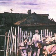 Yu Zavarzov. Father's house. On leave. Oil. 1984
