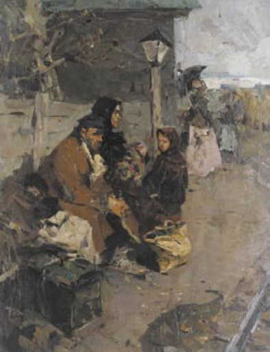 Yuri Alexandrovich Savinov (1929). Immigrants. 1950