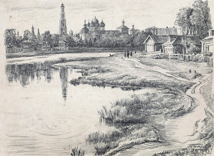 Zagorsk. 1944. pencil on paper