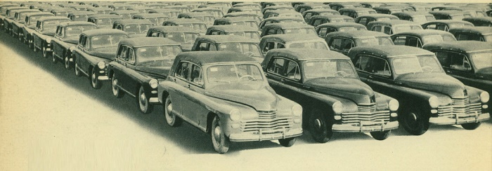 cabriolets Victory at the Merchant yard of Molotov Automobile Plant