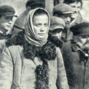 As Olga Vysheslavtseva in the film 'Avalanche'. 1977