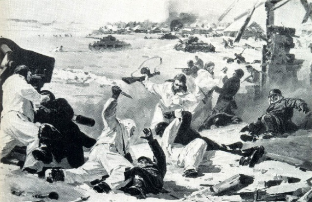Diorama Airborne landing near Vyazma in 1942. Fragment