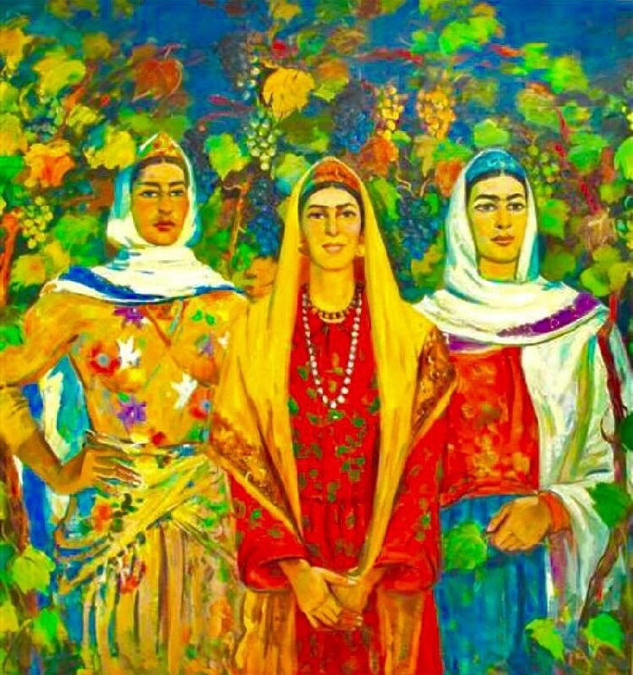 Dzhangir Rustamov. Azerbaijani women