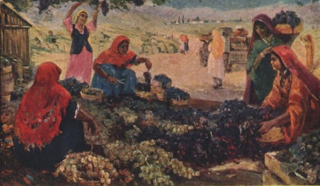Grape harvest. Zuhur Nurjanovich Habibullaev (1932-2013)