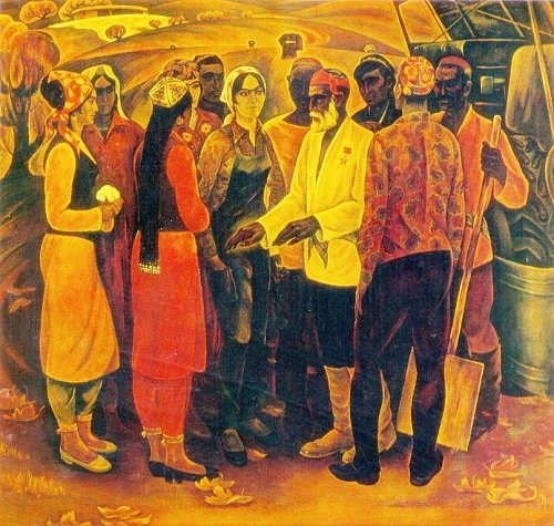 Gallery of paintings by Soviet Tajik artists