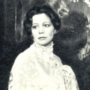In the role of Vera Komissarzhevskaya, film 'I am actress'. 1980