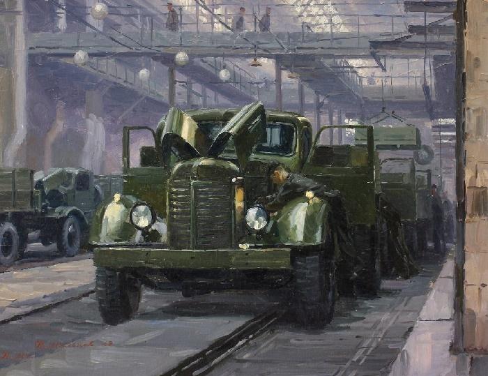 The Stalin Automobile Plant. Main conveyor, 1949