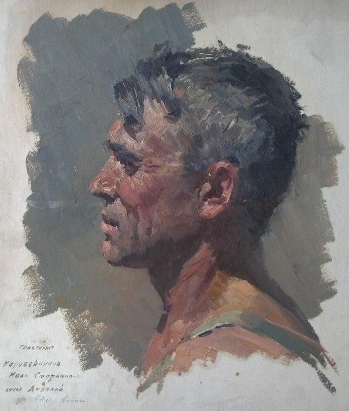 Tractor driver Ivan Korobeinikov