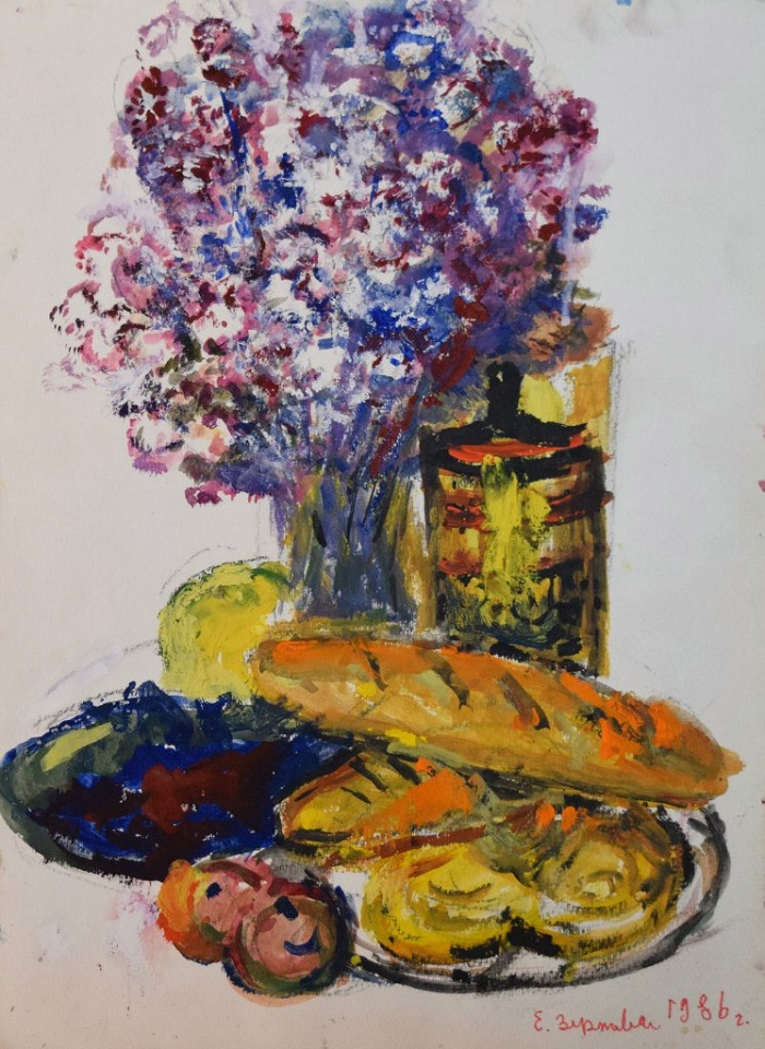 Bread and flowers. 1986