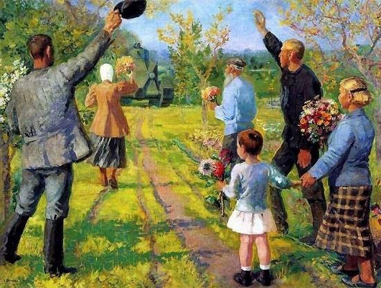 Soviet artist Ekaterina Sergeevna Zernova (19 April 1900-1995)