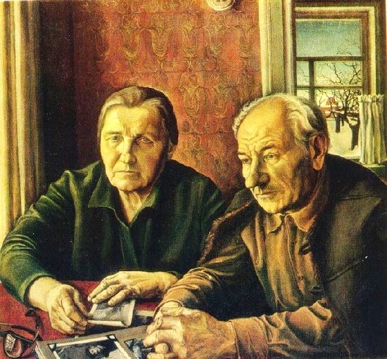 Eduard Alexeyevich Belogurov (1947-1998). Portrait of parents. 1978