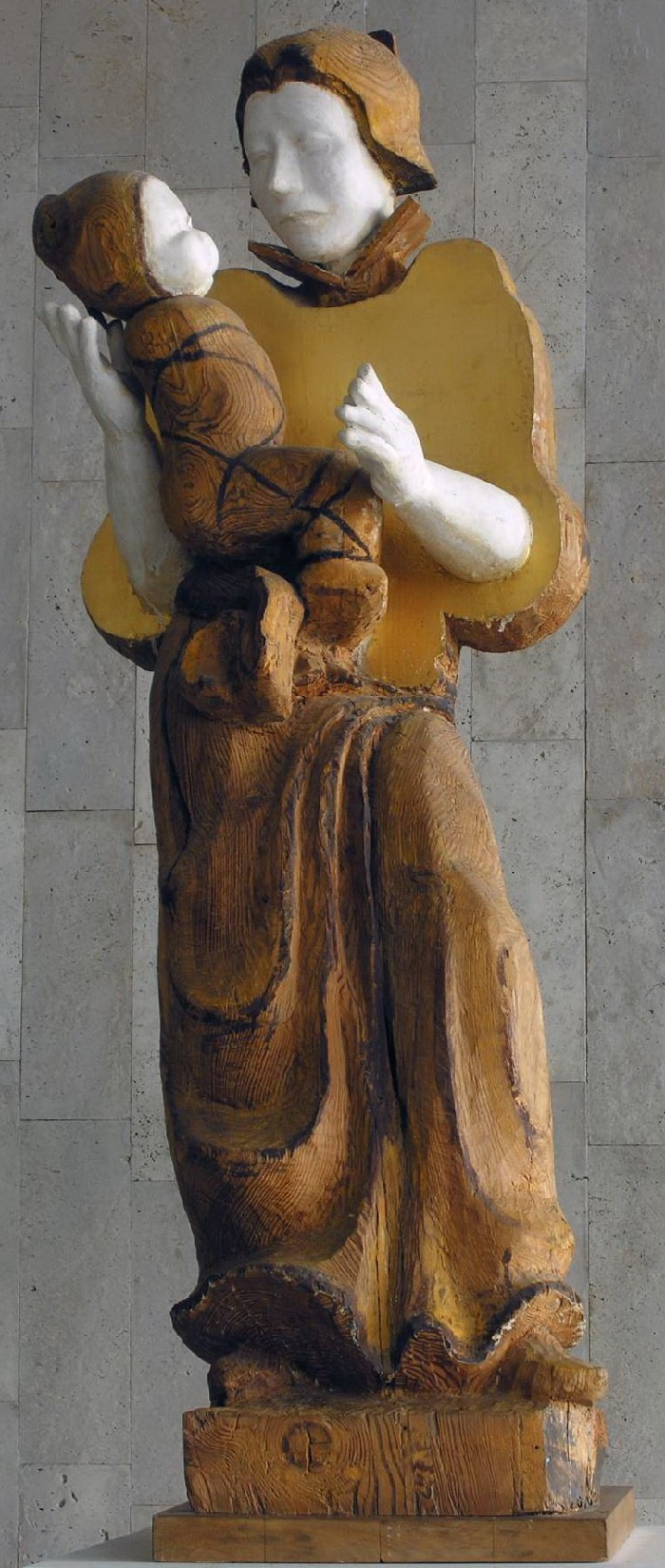 Go and save my trail. 1987. Wood sculpture, gilding, painting