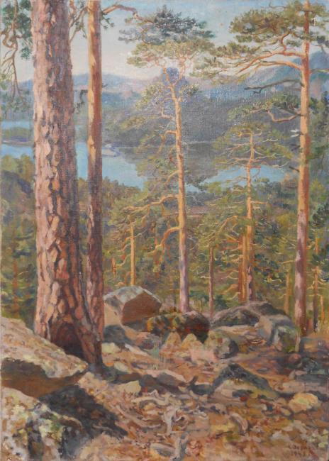 Landscape with Lake Borovoye. 1943
