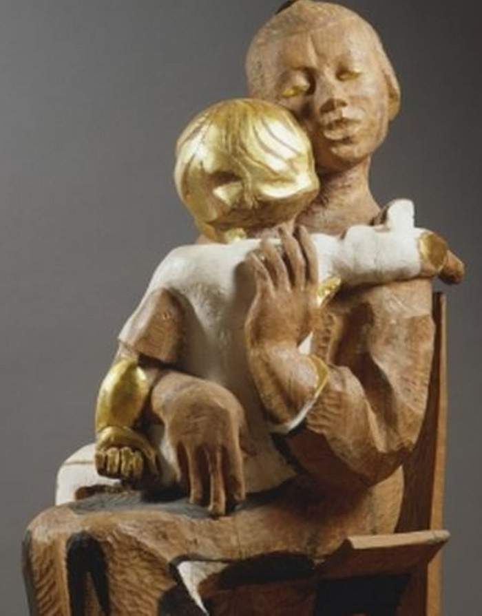 Maternity (Have time to sing lullabies). 1983. Wood, painting, gilding
