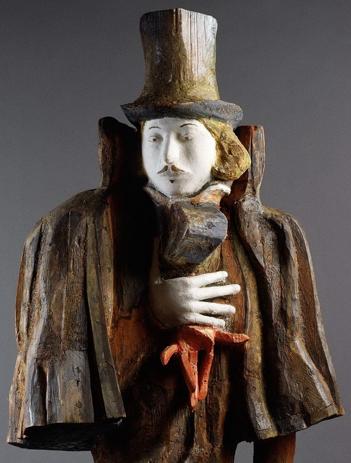 N.V. Gogol. 1993. Wood, detail