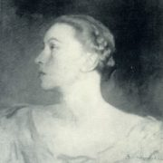 Portrait of Galina Ulanova. 1942-1946