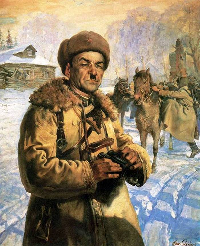 Portrait of the Hero of the Soviet Union, Major-General I.V. Panfilov. 1942 The State Tretyakov Gallery
