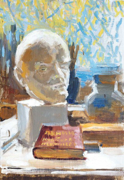 Sketch for the painting 'Lenin and fine art'. 1977