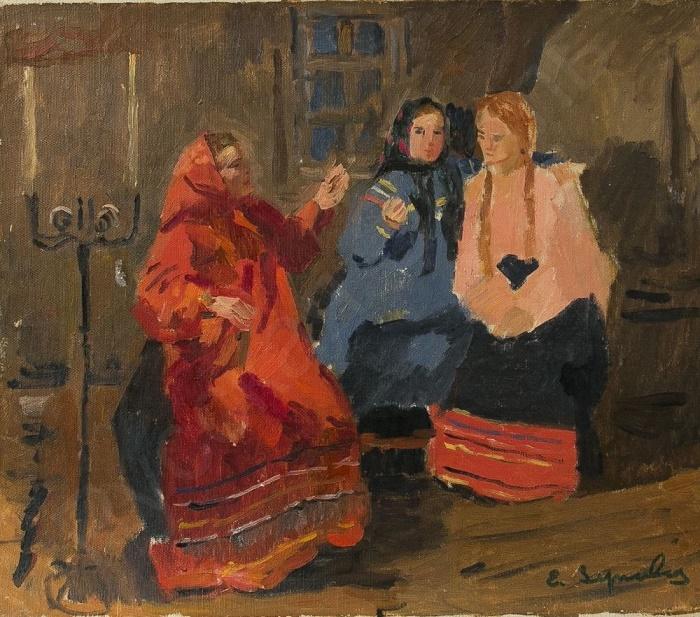 Three village women