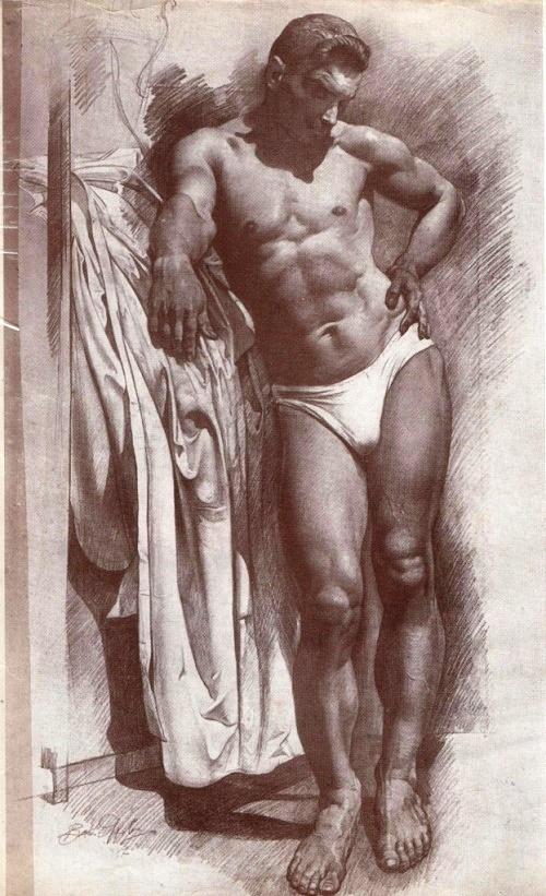 Model. Pencil. 1947