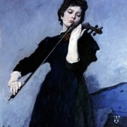 Violin player Olga Kotlyarevskaya. 1962