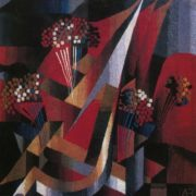 E. Galumov, L. Galumova. They were the first. Tapestry. The central part of the triptych. Wool, hand weaving. 1986