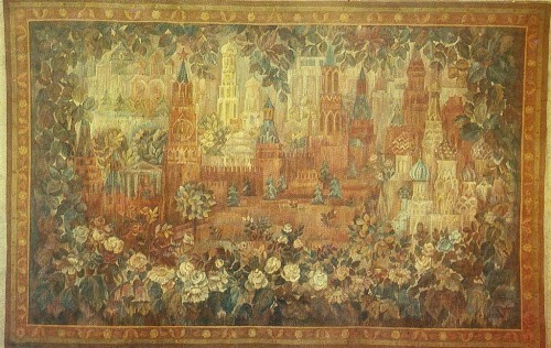 Moscow). Tapestry 'Red Square'. 1981 Wool, hand weaving