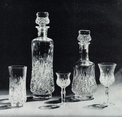 IA Nikiforov (born 1951 Moscow). 'Sparkling' set. 1975. Crystal, Diamond-Cut